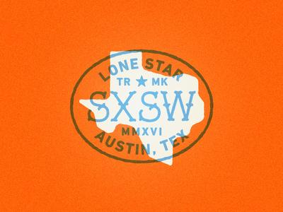 SXSW concert state logo type texas badge patch sxsw