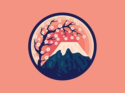 Mount Fuji blossom cherry volcano mount fuji japan