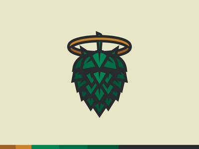 Holy Hops brewery halo logo brand beer hops