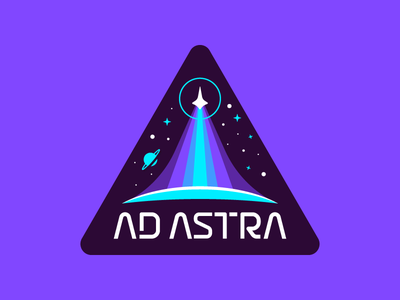 Ad Astra Patch type mark logo branding rocket space