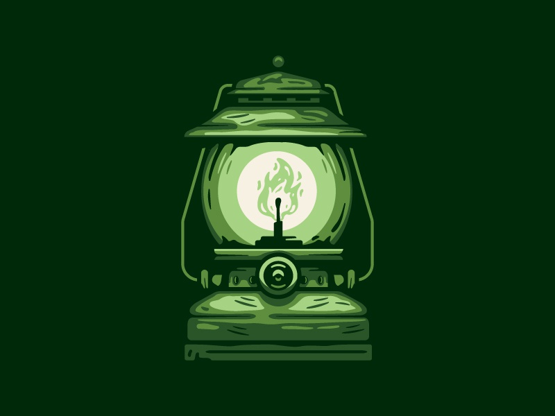 Lantern illustration camping flame lantern