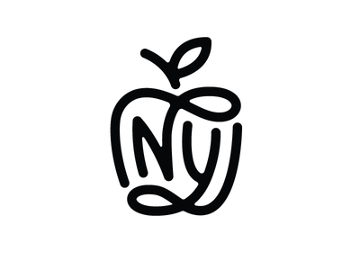 NY Monogram mark logo new york nyc city apple monogram ny