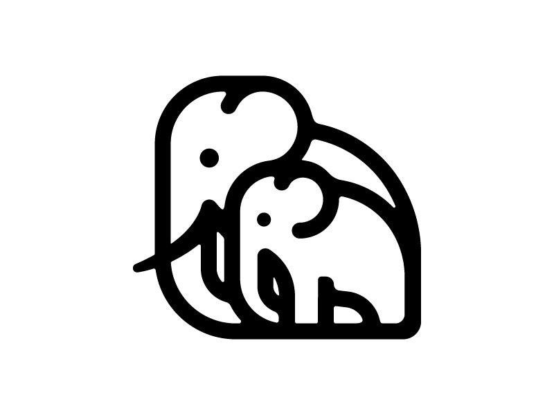 Parenting parents logo elephant