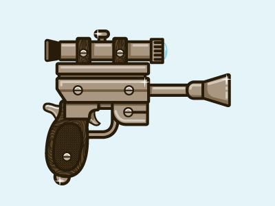 Weapon Tribute To Rogie & Tim weapon gun illustration pistol wood stock grain trigger bullet star wars