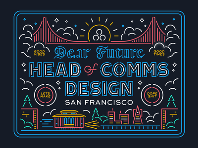 To our future Head of Comms Design...