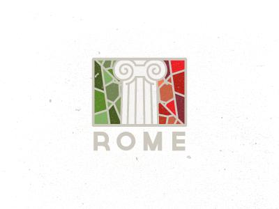 Rome logo logos mosaic rome column pillar