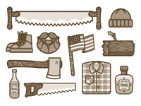 Lumber Jack Icons