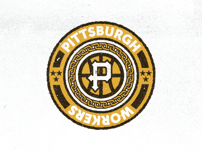 Pittsburgh Workers basketball pittsburgh black yellow