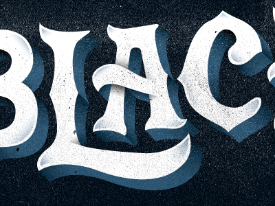 Black type shadows overlap typography experiment custom type black old letters
