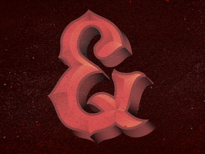 And something new will take place ampersand custom type letters symbols gradients blood fire
