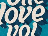 One love yo!  Poster
