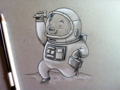 Astro Bear Kid Sketch