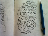 Doing Good/Helping Others Sketch