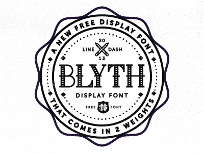 Blyth Font for Free font type letters alphabet badge crest pencil bottle cap crop dots