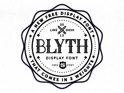 Blyth Font for Free font type letters alphabet badge crest pencil bottle cap crop dots