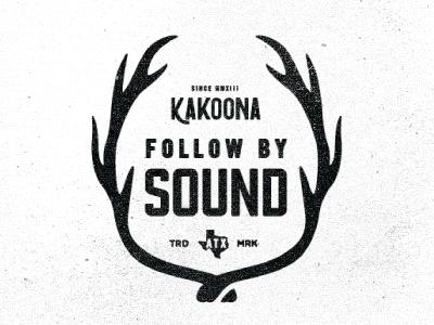 KAKOONA Badges For SXSW WIP austin texas sxsw antlers music festivals deer cattle west wild type badge emblem