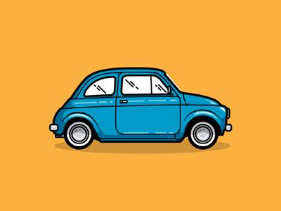 Fiat 500 fiat 500 car illustration iconic italy