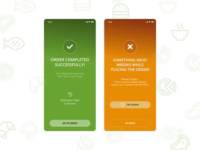 Confirmation Page ux mobileapp design vector ui sketch foodui takeawayshoponline mobiledesign foodapp order uiux mobile ui mobile yesno