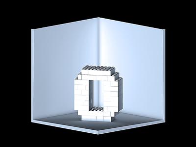 3D type LEGO letters type 3d c4d cinema4d