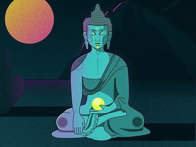Monk buddha monk figma webdesig ui illustration