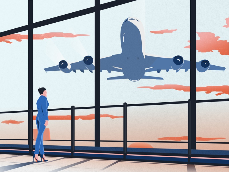Airport figma webillustration airplane airport travel vector illustration website webdesign uidesign ui design