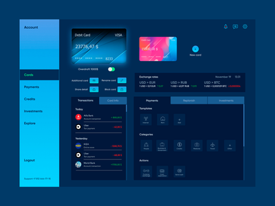 Internet bank page concept interface app online interaction uxuidesign ui ux banking finance