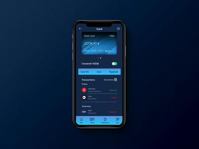 Mobile banking app ux ui interface interaction finance banking app