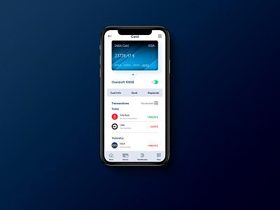 Mobile banking app finance app banking user interface design ui concept ux