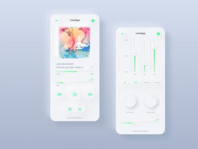 Skeuomorph Music App music skeuomorph app uidesign design user interface ui ux concept