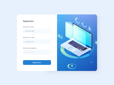 Registration form account website mail design user interface ui registration form