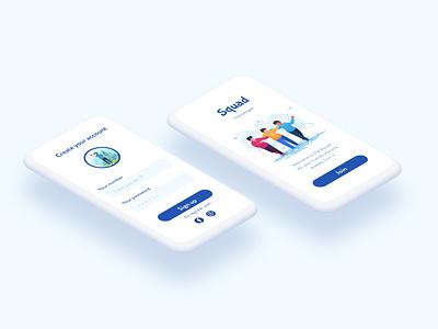 Isometric mockup messenger webdesign app concept uidesign ux user interface ui design