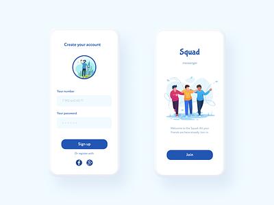 Messenger concept messenger user interface app webdesign uidesign ui
