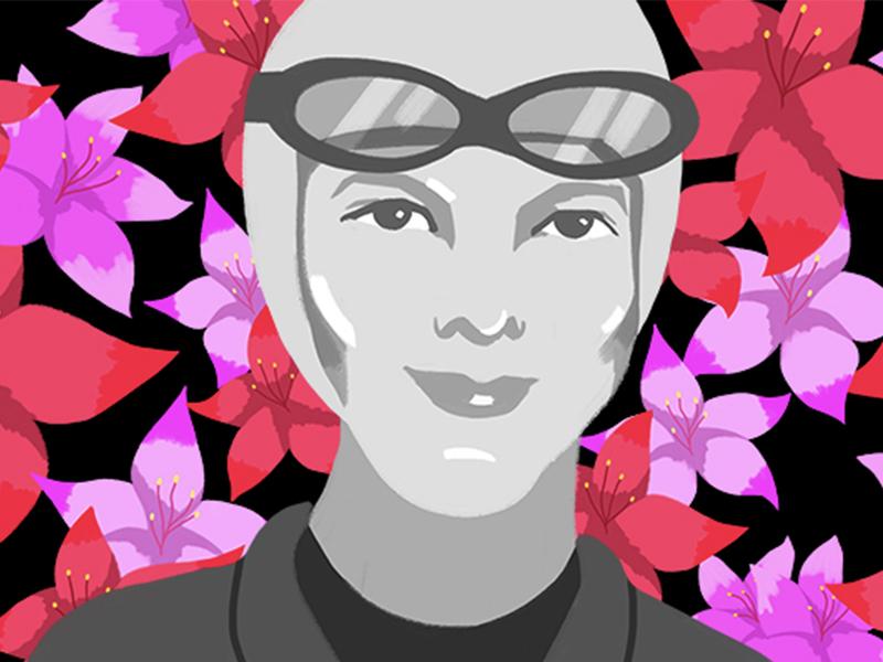 Amelia Earhart Mural Concept amelia earhart photoshop design illustration