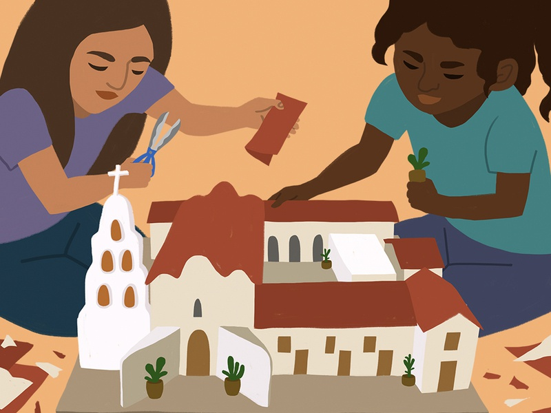 San Diego Mission Mural Concept mission san diego mural design mural art photoshop design illustration