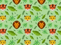Big cat pattern (light bg)