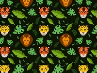 Big cat pattern (dark bg)
