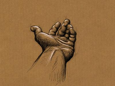 Digital painting of my hand