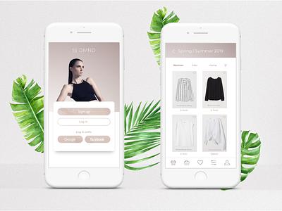 Mobile Store App store design concept signup login box design uxdesign ui