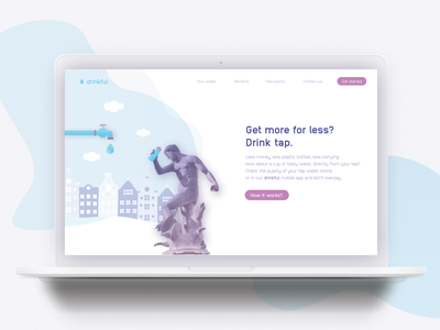 Landing page concept - Drinkful / Tap water