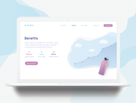 Landing page concept - Drinkful / Benefits