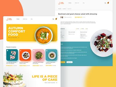 Recipe platform - matter of taste 👩🍳 light red yellow colors recipe app recipes recipe cooking webdesign app landingpage ux uxdesign concept ui design