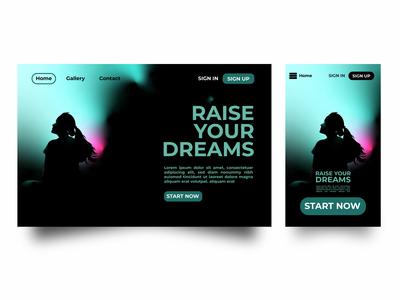 Raise Your Dream UI Design