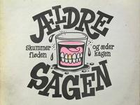 Ældre Sagen logo illustration cover art hand lettering print