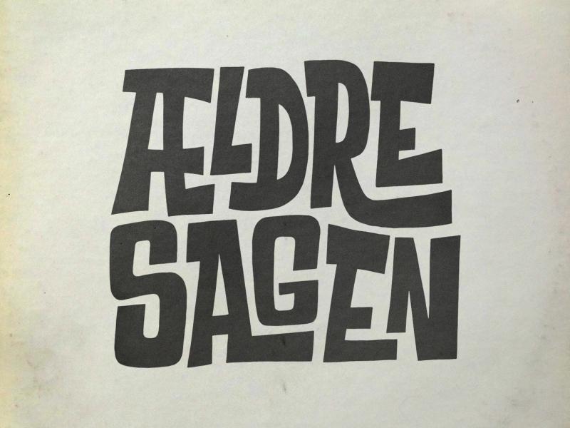 Ældre Sagen cover art logo typography hand lettering print