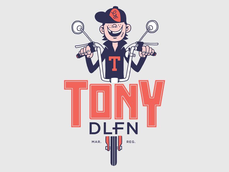 Tony Delfino t-shirt apparel print typography illustration