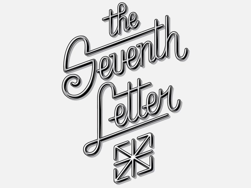 The Seventh Letter t-shirt branding design hand lettering apparel typography print