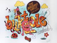 Buktole Mural mural design hand lettering illustration