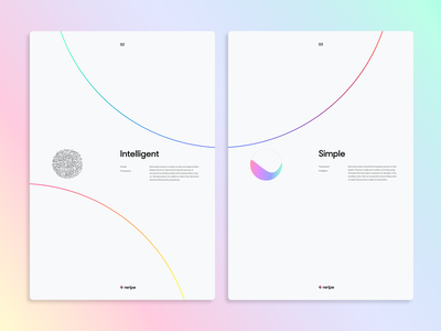 Gradient Posters intelligent simple poster abstract branding