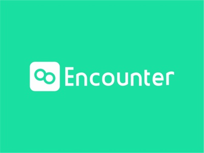 Encounter appdesign logodesign design branding icon typography logoapp app logo illustrator minimal vector graphic design flat illustration