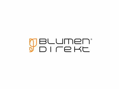 Blumen Direkt Flower Shop ux ui design vector flat branding illustration minimal graphic design logoidentity logodesigner logo